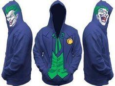 Joker Tuxedo Costume with Faces Batman DC Comics Licensed Zip Up Hoodie s 2XL | eBay