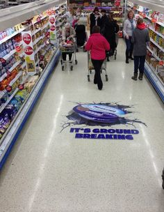 Kraft Cadbury ran this floor graphic campaign across stores in Ireland to promote their Philadelphia cheese. The campaign was executed by Visualise, our partners in Ireland.