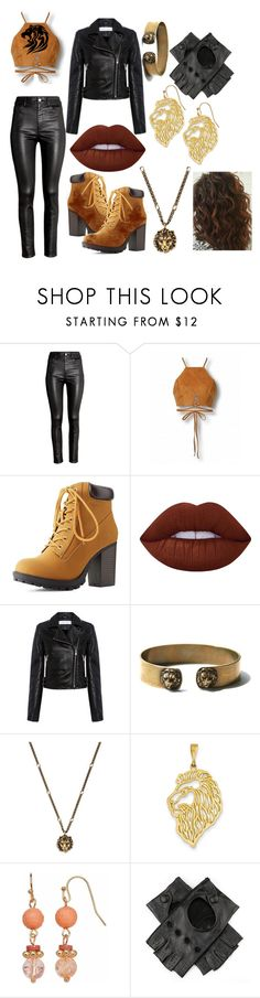 """Scarlett, Daughter of Scar #1, Isle of the Lost"" by azul-reina ❤ liked on Polyvore featuring H&M, Charlotte Russe, Lime Crime, IRO, Gucci, Kevin Jewelers and Black"