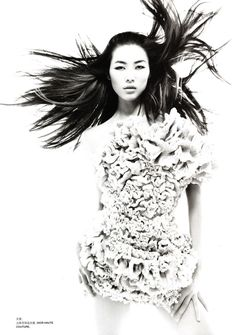 Liu Wen for Numero China by Tiziano Magni, September 2010. In Dior Couture!