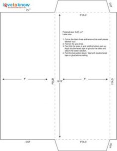 How To Make Envelopes  Envelopes Template And Letter Size Envelope