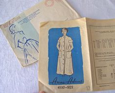 Vintage Housecoat Pattern 1960s Ann Adams Sewing Pattern Size