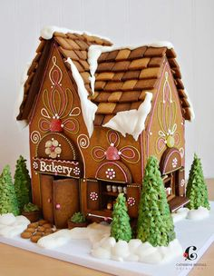 A gingerbread bakery