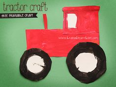Printable Tractor Craft – Version II | LearnCreateLove.com