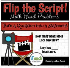 Flip the Script! Change a Question into a Statement Math Activities, Teaching Resources, Teaching Ideas, Math Stations, Math Centers, Student Learning, Teaching Math, Math Anchor Charts, 4th Grade Classroom