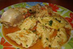 Retete Culinare - Papricas de pui cu galuste Carne, Potato Salad, Chicken Recipes, Food And Drink, Potatoes, Meat, Dinner, Cooking, Ethnic Recipes