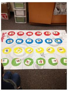NEED: twister mat, twister spinner, articulation cards Articulation Therapy, Articulation Activities, Speech Therapy Activities, Language Activities, Kindergarten Activities, Speech Language Therapy, Speech Language Pathology, Speech And Language, Therapy Games