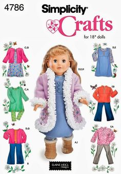 Doll Clothes Pattern 18 inch Doll Clothes Pattern Doll by blue510, $4.00