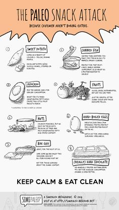 The Paleo Snack Attack info graph, hate reading how some people disagree with eating snacks and going paleo. Paleo On The Go, Paleo Whole 30, How To Eat Paleo, Going Paleo, What Is Paleo Diet, Paleo Snack, Paleo Food List, Paleo Meals, Paleo Meal Plan