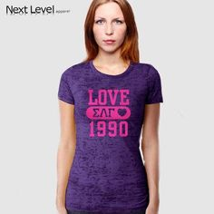 Sigma Lambda Gamma Printed Love and Date Burnout Tee - Next Level N6500 - CAD