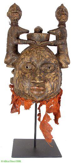 Yoruba Helmet Mask Gelede Nigeria African - Yoruba - African Masks