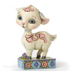 Jim Shore Heartwood Creek Easter Mini Lamb by Gate 4051402 NEW