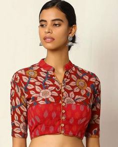 Kalamkari Print Cotton Blouse