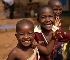 If they can smile in their desolate situation, we can smile in our blessed one. :)