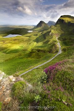 Road winds far below (Isle of Skye, Scotland) by Damian Kane