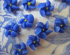 Irresistible  Japanese  Blue Glass  Flowers