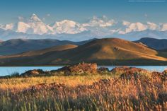 Beautiful scenery around Lake Tuzkol in the Almaty region, Kazakhstan
