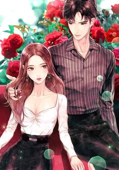 The red rose love couple manga, anime love couple, cute anime couples, cute Anime Couples Drawings, Anime Couples Manga, Cute Anime Couples, Anime Guys, Couple Manga, Anime Love Couple, Couple Art, Red Rose Love, Fantasy Couples