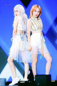 Jiwoo and Somin Stage Outfits, Kpop Outfits, Joker, Kpop Girl Groups, Kpop Girls, K Pop, Kard Bm, Kim Woo Jin, Dsp Media