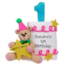 Your little one is ready for a party and this keepsake ornament for baby's 1st birthday will be saved forever.  It is also a great way to celebrate a first anniversary.