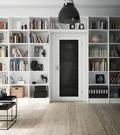 wall o' storage, built-in bookcase around door Built In Bookcase, Bookshelves, Modular Shelving, Home Libraries, Interior Decorating, Interior Design, Home Bedroom, Ikea, Sweet Home
