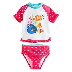 Pin for Later: The Cutest Rash Guards For Fun in the Sun Finding Dory Rash Guard Swimsuit Disney Finding Dory Rash Guard Swimsuit for Girls ($20)