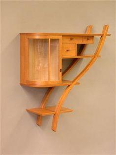MARTIN McCARTHY, Forestville CA, cabinet and drawers, mahogany/ maple/cedar/burl, 2005