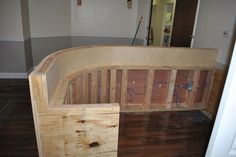 DIY reception desk  Great step-by-step pictures & plans http://www.stripersonline.com/t/858892/dentists-recption-desk-w-pics