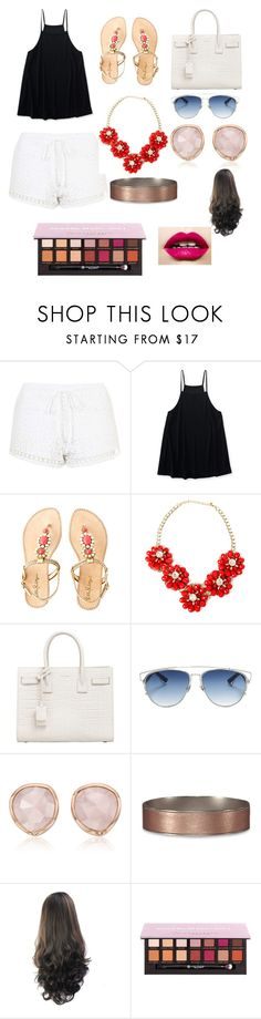 """""""Going shopping"""" by elizabeth-porier ❤ liked on Polyvore featuring Topshop, Aéropostale, Lilly Pulitzer, Yves Saint Laurent, Christian Dior, Monica Vinader, Abercrombie & Fitch and Anastasia Beverly Hills"""