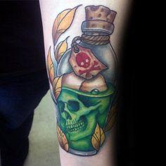40 Poison Bottle Tattoo Designs For Men