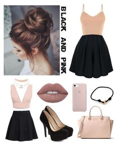 """""""Black and pink outfit"""" by sophie01234 ❤ liked on Polyvore featuring MICHAEL Michael Kors, Animale, H&M, Jessica Simpson, Charlotte Russe and Cartier"""