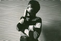UK artist Bridget Riley, 1964 (by D. Newell-Smith)