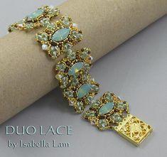 DUO Lace SuperDuo Beadwork Bracelet Pdf tutorial door bead4me