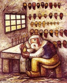 Tadeusz Makowski - A cobbler