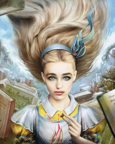 Alice in Wonderland. It came out bizzare and delicate at the same time, IMO What do you think?Fun fact- did you know that in the original version her dr. Alice in Wonderland, Portrait Alice In Wonderland Fanart, Alice In Wonderland Illustrations, Alice In Wonderland Makeup, Lewis Carroll, Go Ask Alice, Poster Prints, Art Prints, Adventures In Wonderland, Thing 1