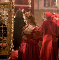 Holliday Grainger as Lucrezia Borgia in The Borgias (TV Series, 2012).