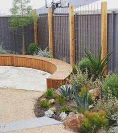 A family garden is a good garden 👫 Progress at Torquay, plants ahead of paving, steps by Construction by… Australian Garden Design, Australian Native Garden, Back Gardens, Outdoor Gardens, Garden Screening, Coastal Gardens, Family Garden, Garden Spaces, Garden Beds