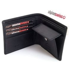 Alpine Swiss Mens Leather Bifold Wallet with Coin Pocket Purse Pouch & 2 Bill Sections Price: $10.99