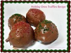Holiday Oreo Truffles Recipe and Tutorial. Easy Creation.