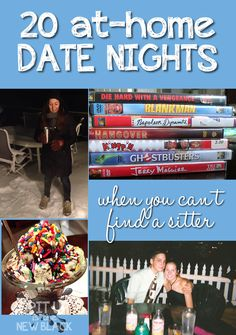 20 At-Home Date Night Ideas for Parents (when you can't find a sitter) #16 is my favorite! Ideas for Valentine;s Day too
