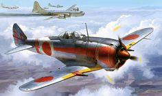 Nakajima Ki-44-II Otsu Shoki 'Tojo' with 40mm Cannon (Hasegawa box art)