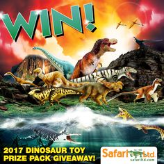 Our NEW dinosaurs have finally arrived! To celebrate, Safari Ltd is excited to announce our 2017 Dinosaur Prize Pack Giveaway!   Go to our official Facebook page to enter and for all the details!