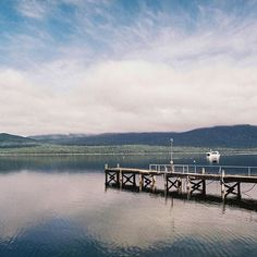 Waterscape #1 Looking out into Lake Te Anau on my trip to the South Island in 2015    @ajh.photograph    #filmisnotdead #southisland #blue #travel #nz #newzealand #35mm #lake #landscape