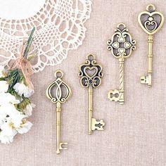 Llaves de bronce estilo vintage para decorar