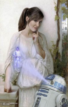 """Reverie Princess, by carlosnumbertwo. """"Princess Leia in Reverie by Bouguereau."""" place entry in Star Wars Ren Contests) Star Wars Love, Star Wars Girls, Star Wars Art, Star Trek, Carrie Fisher, Leia Star Wars, The Blues Brothers, Leila, Debbie Reynolds"""