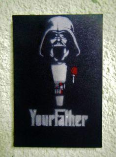 Spray in canvas.. Godfather Vader