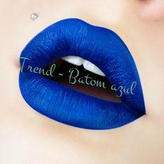 Fresca Chic: Trend: Batom azul