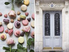 Laduree macarons, Pierre Marcolini chocolates and market roses - Georgianna Lane Photography