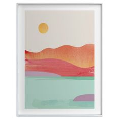 Girls Playroom Sunset Art