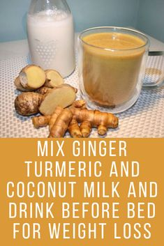 Golden Milk Recipe For Weight Loss Golden Milk Recipe For Weight Loss,Coconut milk recipes Mix Tumeric Ginger and coconut milk and consume it before bed daily to see the results in your weight loss. Weight Loss Meals, Weight Loss Detox, Weight Loss Drinks, Weight Loss Smoothies, Healthy Weight Loss, Lose Weight, Tumeric And Ginger, Turmeric Tea, Coconut Milk Drink